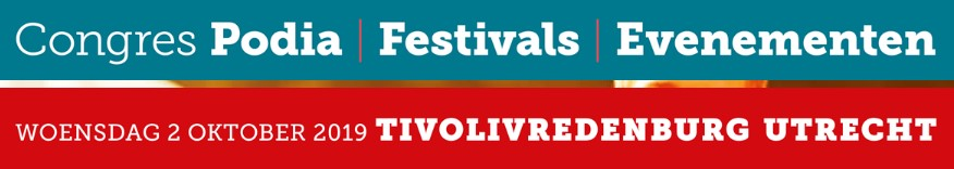 Congres Podia, festivals en Evenementen op 2 okt 2019