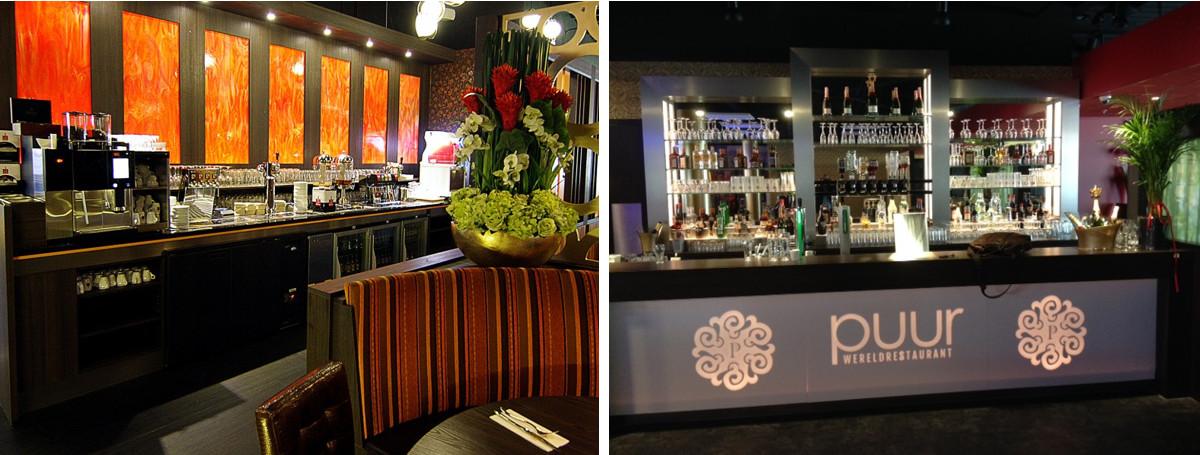 Zelbedieningsbar Wereld Restaurant Orange in Apeldoorn en Puur in Emmen