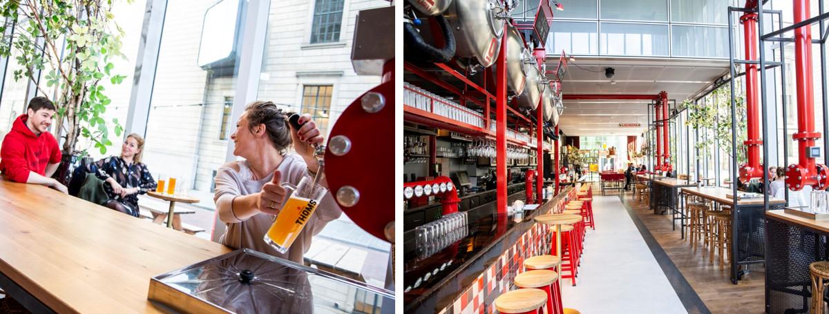 Zelftap taptafel bij THOMS Stadsbrouwerij in Rotterdam