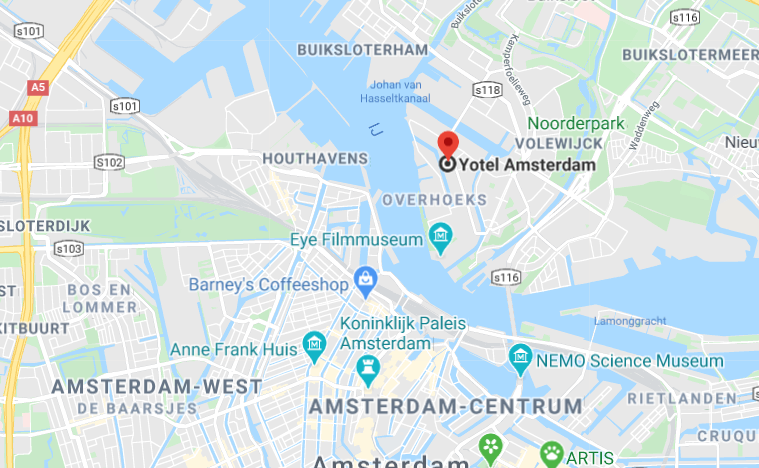 ligging Yotel in google maps